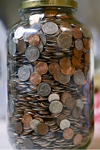 1 Gallon Jar of Coins